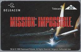 BE.- België. Telecard.- BELGACOM. MISSION: IMPOSSIBLE. 608E36490 - GSM-Kaarten, Herlaadbaar & Voorafbetaald
