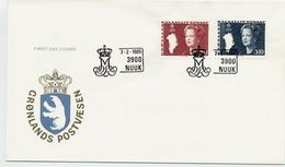 GREENLAND 1985 Queen Margarethe Definitive 2.80 And 3.80 Kr. On FDC. Michel 155-56 - FDC