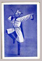 CPA Bleue - Folklore -  . Danseur Cosaque Jonglant Avec Des Poignards - Circus
