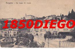 BERGAMO - VIA LAURO ( S. LUCIA ) F/PICCOLO VIAGGIATA  ANIMATA - Bergamo