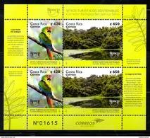 COSTA RICA, 2017 , BIRD- PARROT, , UPAEP, S/S,  MNH** - Oiseaux