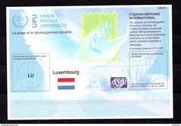 9409 IRC IAS CRI - International Reply Coupon - Antwortschein T41 Luxemburg LU 20170901 AB - Luxemburg