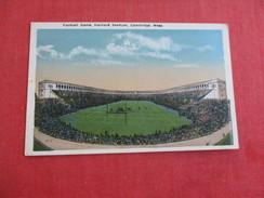 Football Game Harvard Stadium Cambridge Mass.  -ref 2772 - Cartes Postales