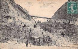 C P A [76] Seine Maritime Grainval La Descente à La Mer La Valleuse Carte Animée - Frankreich