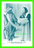 IMAGES RELIGIEUSES - MARGUERITE BOURGEOYS - C.N.D. 1950 - LA CHÈRE MÈRE SE DÉPOUILLE POUR LES SOLDATS - - Devotion Images