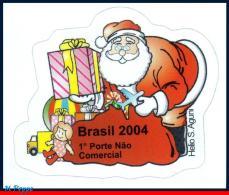 Ref. BR-2947 BRAZIL 2004 - SANTA CLAUS, RELIGION,, MI# 2394, SELF-ADHESIVE MNH, CHRISTMAS 1V Sc# 2947 - Christianity