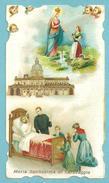 Santini: MARIA SS. DI CARAVAGGIO  - SANTUARIO - E - PR - Mm. 66 X 116 - CROMOLITOGRAFIA - Religione & Esoterismo