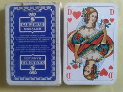 KARLSBRAU (bière). Jeu Usagé De 32 Cartes Dans Sa Boite Carton Abimée(pas De Languette) - Playing Cards (classic)