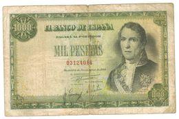 Spain 1000 Pts. 1949, No Series. (D. Ramon De Santillan)  F+. - [ 3] 1936-1975 : Regency Of Franco