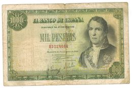 Spain 1000 Pts. 1949, No Series. (D. Ramon De Santillan)  F+. - 1000 Pesetas