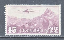 OLD  CHINA  C 24   *   SECRET  MARK   Wmk. - 1912-1949 Republiek