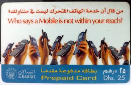 UNITED ARAB EMIRATES PHONECARD, MOBILE PHONES - United Arab Emirates