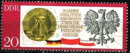 DDR - Michel 1591 - OO Gestempelt (B) - 20Pf   Görlitzer Abkommen - Oblitérés