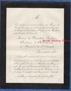 Document De 1885 - PARIS , Eglise De La Madeleine - Messes Du Bout De L'An - Maréchale SUCHET Duchesse D' ALBUFERA - Historical Documents