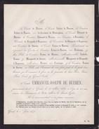GAND MELLE Comte Emmanuel De BUEREN 65 Ans 1871 Famille De KERCHOVE De DENTERGHEM FORTAMPS DORMER - Décès
