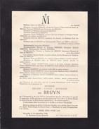 TERMONDE DENDERMONDE Julien De BRUYN 1875-1948 Famille EEMAN - Décès