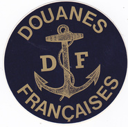 AUTOCOLLANT PUB DOUANE FRANCAISE - Douanes Marine DF Ancre - Autocollants