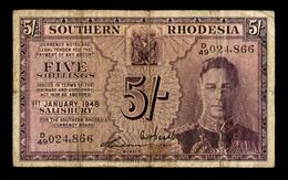 Southern Rhodesia 5 Shillings 1.1.1948 Pick 8b - Rhodésie