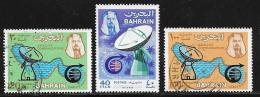 Bahrain, Scott # 167-9 Used Satellite Earth Station, Map,, 1969 - Bahrain (1965-...)