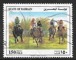 Bahrain, Scott # 383f Used Horse Racing, 1992 - Bahrain (1965-...)