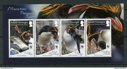W.W.F. WWF South Georgia & Sandwich Islands MNH Perf Souvenir Sheet 2017 : Macaroni Penguins / Penguin - W.W.F.