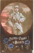 MILITARIA -  CPA COLORISEE - FLEURS De FRANCE  Les BLEUETS  -  NANT3/TON - - Régiments