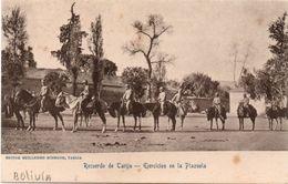 "Bolivia 1920-30's Tarjeta Postal ""Recuerdo De Tarija"" Ejercicios En La Plazuela. See. - Bolivie"