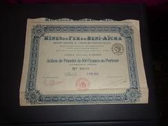 MINES DE FER DE BENI AICHA (algerie) 1922 - Shareholdings