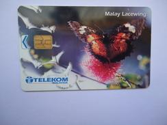 MALAYSIA USED CARDS  BUTTERFLIES RM50 RARE - Malaysia