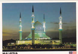 Big Postcard Of A Sultan Sallahuddin Mosque In Shah Alam,Malaysia..,Size=170mmx120mm.APROX,L42. - Malesia
