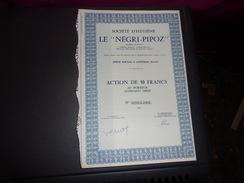 Société D'hygiène LE NEGRI PIPOZ  (1965) ASNIERES - Shareholdings