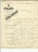 03 - Allier - BEGUES - Facture CHATEAU DE BEGUES - Distillerie, Vins Blancs, Cognacs, Eaux-de-vie - 1910 - REF 81A - 1900 – 1949