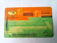 29CYPS 5 Pounds Telecard Expo - Cyprus