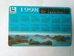 250 Baht 1998 Calendar Chip Card - Thaïlande