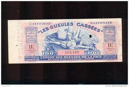 Billet De La Loterie Nationale De 1941  -  Les Gueules Cassées   -  11 ème  Tranche - Lottery Tickets