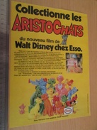 Page De Revue Des Années 60/70 : JEU JOUET PUBLICITAIRE ESSO DISNEY LES ARISTOCHATS , Dimension Page A4 - Advertising
