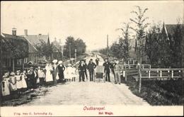 Cp Oudkarspel Langedijk Nordholland Niederlande, Het Wegje, Straßenpartie, Anwohner - Nederland