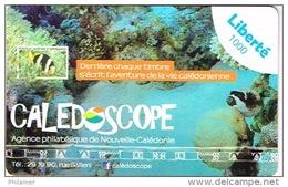 Nouvelle Caledonie Telecarte Phonecard Liberte Prepaid Pre Payee Publique Caledoscope Aquarium Poisson Lagon  Ex 2016 TB - New Caledonia