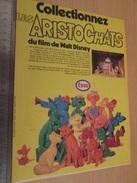 Page De Revue Des Années 60/70 : JEU JOUET FIGURINES PUBLICITAIRES ESSO DISNEY ARISTOCHATS , Dimension Page A4 - Advertising