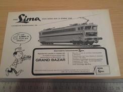 Page De Revue Des Années 60/70 : PUBLICITE TRAIN ELECTRIQUE LIMA  , Dimension Page 1/2 A4 - Trains électriques
