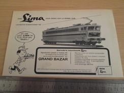 Page De Revue Des Années 60/70 : PUBLICITE TRAIN ELECTRIQUE LIMA  , Dimension Page 1/2 A4 - Model Railways