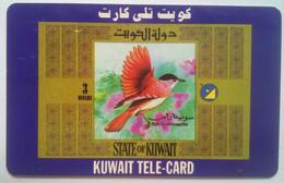3 Dinar Bird In Flight - Kuwait