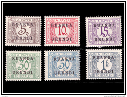 Ruanda TX 009/14* Surchargé  H - - Postage Due: Mint/hinged Stamps