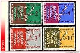 Rwanda 0033/36**  Contre La Faim  MNH - Rwanda