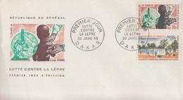 Enveloppe  FDC  1er  Jour   SENEGAL   Lutte  Contre  La  Lépre  1965 - Disease