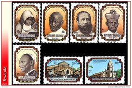 Rwanda 0730/36** Eglise Catholique MNH - Rwanda