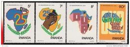 Rwanda 1333/36**  25è Anniversaire De L'O.U.A  MNH - Zaïre