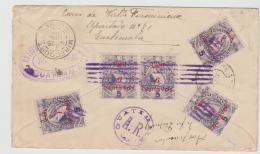 Gua094 / Quetzal, Mehrfach, Teilfrankatur Rückseitig 1898  Nach Frankreich - Guatemala