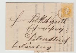 A-KI264 / Firmendrucksache Prag 1869 Nach Bayern (Franken) - 1850-1918 Imperium