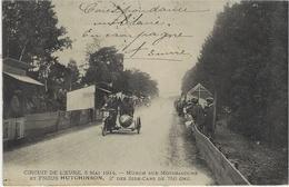 Circuit De L'EURE ( 3 Mai 1914)  Münch Sur Motosacoche Et Pneus Hutchinson , 2° Des Side-Cars De 750 Cc - Motorbikes